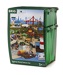 BRIO- Railway World Deluxe Set Juego Primera Edad, Multicolor (33766)
