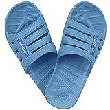 1 Paar Damen Badelatschen, Freizeitlatschen, Badepantoletten Größe: 38, blau, bl-38