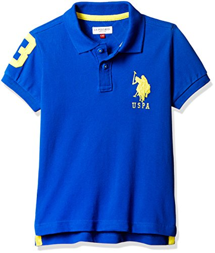 US Polo Boys' T-Shirt (UKTS6292_Medium Blue _24THS)