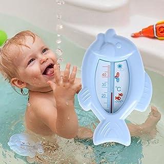 Awakingdemi Fish Bath Thermometer Floating Lovely Fish Water Float Baby Bath Thermometers Tub Watering Sensor Thermometer Blue