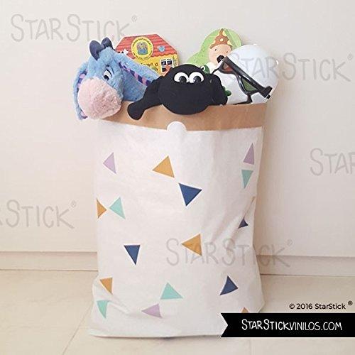 Saco organizador de papel - Triángulos mostaza