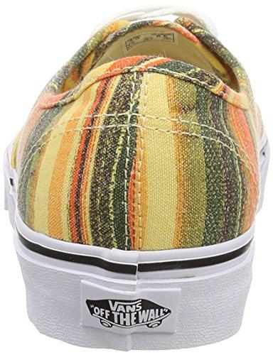 Vans Unisex-Erwachsene Authentic Niedrige Sneaker, Taglia scarpa Nero (Black (Baja Blanket - Multi/True White))