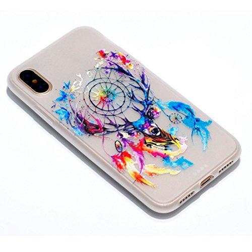 iPhone 8 Custodia, Copertura per iPhone 8, Case Cover protettiva antiurto per silicone per iPhone 8 , Soft TPU Bumper-Clear (Luce di notte-TPU) - Cacciatore di sogni Set 6