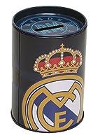 Salva i tuoi soldi in sicurezza nel salvadanaio della migliore squadra della migliore squadra del mondo! Con questo salvadanaio cilindrico metallico del Real Madrid non ti costerà risparmiare, poiché questo sarà aiutato dai colori e dallo scu...