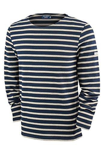 Saint James Langarm Shirt Meridien Modern Blau-Beige(51)
