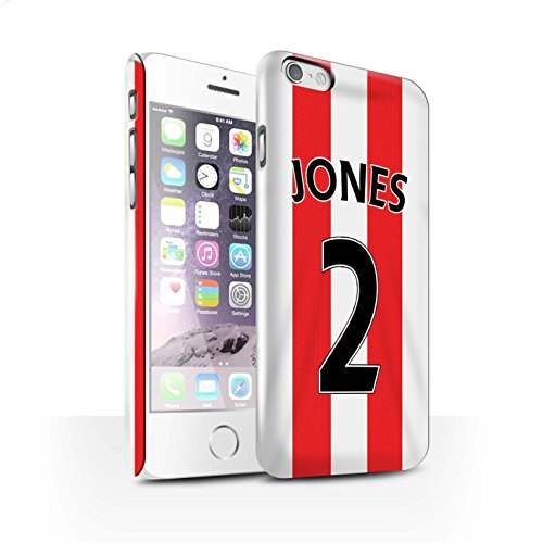 Offiziell Sunderland AFC Hülle / Glanz Snap-On Case für Apple iPhone 6S / Kirchhoff Muster / SAFC Trikot Home 15/16 Kollektion Jones