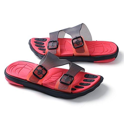 Chaussons pour hommes, faites glisser un mot, salle de bains baignoire, chaussons anti-dérapants, les chaussures de plage gules