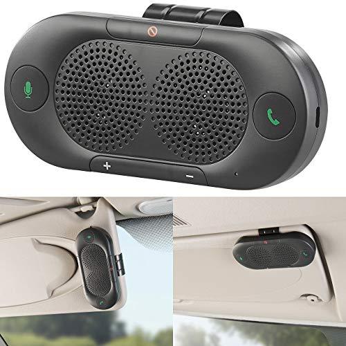 Callstel Freisprechanlage Pkw: Stereo-Kfz-Freisprecher mit Bluetooth 5, Siri- und Google-kompatibel (Freisprecheinrichtung fürs Auto)