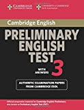 Cambridge Preliminary English Test 2nd 3 Student's Book with Answers: Examination Papers from the University of Cambridge ESOL Examinations (PET Practice Tests)