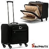 Trolley Borsa da lavoro Valigia da Viaggio Sanpoints 4 Ruote Manico Regolabile Porta Pc Colore Nero immagine