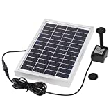 Anself Polycrystalline Silicon 12V 5W Solar Brushless Pump Water Cycle/Pond Fountain