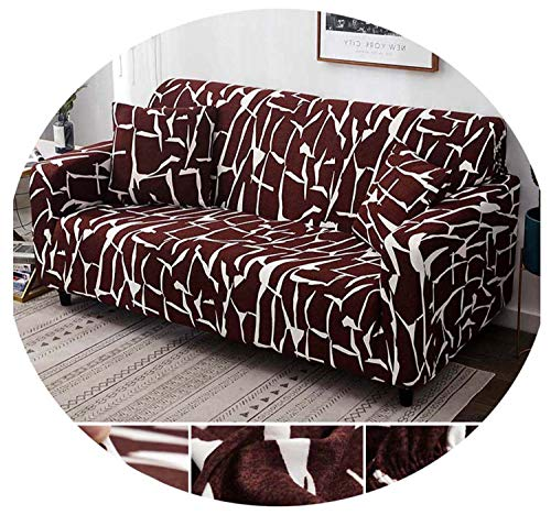 Elastic Sofa Cover Cotton Stretch All-Inclusive Corner Sofa Covers for Living Room Furniture Covers Chair Couch Cover Funda Sofa Color 5 Pillow case-2pcs