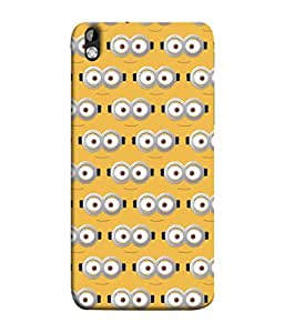 PrintVisa Designer Back Case Cover for HTC Desire 816 :: HTC Desire 816 Dual Sim :: HTC Desire 816G Dual Sim (Eyes In White Staring In Yellow Design)