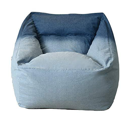 GYGDJ-Sitzsäcke Lazy Bean Bag Sofa - Einzelsofa - einfaches Balkonschlafzimmer Gesundheit EPP Granulat lässig Stoff Sofa