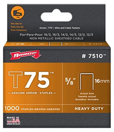 Arrow 160648 T75 Boîte de 1000 Cavaliers 22 mm pour câble ø 12 mm