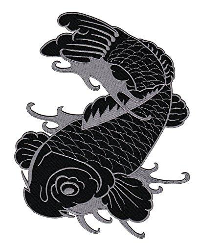 Fisch Tattoo Backpatch Rückenaufnäher Biker Weste Kleidung Kutte ca. 20 x 25 cm