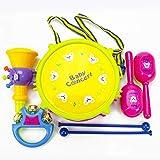 Hilai Musik-Spielzeug für Kinder Baby-Roll-Trommel-Musikinstrumente Band Kit Kinder Spielzeug 5pcs - zufällige Farbe