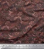 Soimoi Grau Seide Stoff Textur & griechische Schlüssel