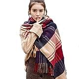 YANHTSO Wollschal Winter dicke warme koreanische Version des wilden Kaschmir Schal Plaid Schal Dual-Use (Farbe : E)