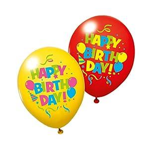 SUSY CARD Globos 40012025 con Mensaje «Happy Birthday», 6 Unidades.