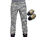 H monde UE Militaire Armée Tactique–Airsoft–Paintball–Tir Pantalons hommes pantalon de Combat avec genou Pads