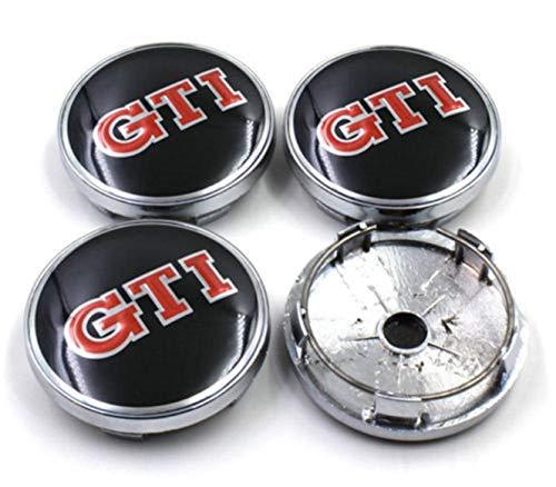 okokk90909o 4 Unids 60mm GTI Car Wheels Center Caps Hub Cover Emblema Badge para Polo Golf