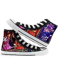 Ghgfjkjhhl JoJo's Bizarre Adventure Zapatos Adecuados for niños y niñas Alto-Top de los Zapatos Ocasionales con Cordones de Zapatos Planos de los Zapatos de Lona cómodos Unisex