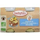 Babybio Pots Douceur de Pomme d'Aquitaine Biscuitée 260 g - Lot de 6