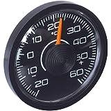 HR-imotion 10010201Thermomètre pour Voiture, Maison, Camping, etc. [pour l'intérieur & l'extérieur | Autocollant| DE -30°C à + 50°C | Made in Germany]