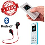 MacBerry Panasonic Eluga Icon 4G Compatible M5 Ultra Thin Mini Card Cell Phones (CREDIT CARD SIZE) & Bluetooth Sport Headset