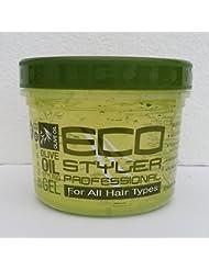 Eco professionnel Huile d'Olive Gel coiffant maximum Support pour tous les types de cheveux 355ml