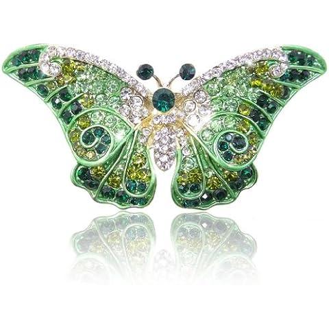 Ever Faith - Cristal Austriaco Arte Nuevo Bonito Mariposa Broche