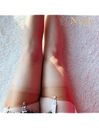 60d2e412f813 SUZNUO 5D Medias De Nylon Largas Transparentes Mujeres Lencería Sexy Retro  Muslo Femenino Medias Altas para