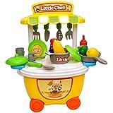 Toyshine Bucket Cum Kitchen Set Play Cart Pretend Play Set Toy