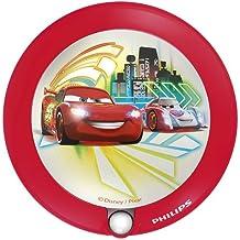 Philips Disney Cars - Luz nocturna con sensor, luz blanca cálida, bombilla LED de 0,06 W, color rojo