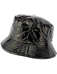 Cappello da pioggia nero Maud raddoppiato Pile–Misto