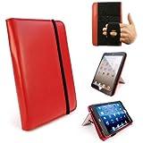 Tuff-Luv Kunstleder 'Embrace Pro' Schutzhülle Tasche mit Ständer (mit Schlaf-Funktion) für Apple iPad Mini / Retina / Mini 3/ Mini 3- Farbe Rot