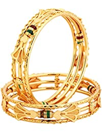 Silveria Golden Bangles For Women Bangle Set For Women - B078NQ59PB