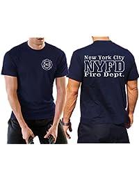 Multifonctions T-shirt bleu marine avec protection UV 30+, nyfd (Work T-shirt) (standard)