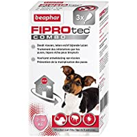 Beaphar fiprotec Combo Pack of 3Pipettes for Small Dog Flea/Tick