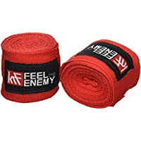 KRF Feel The Enemy 0016983RJ Vendas Semi elásticas, Rojo, 2.5 m