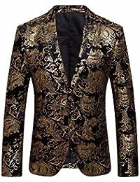 Amazon.it  giacca uomo elegante - Oro   Giacche e cappotti   Uomo ... c6236870c8b