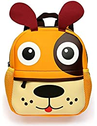 BTSKY Cartera Escolar Infantil con Asa Doble Mochila Graciosa con Diseño de Animales como Mono Tigre Jirafa Ligero Tamaño Niños DE 1-5 Años