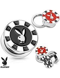 Playboy Adulto conejo Poker Chip acero tornillo ajuste enchufe