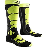 X-SOCKS SKI CONTROL 2.0 Hombre, Anthracite/Verde Lime, 42/44