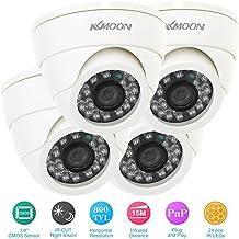 KKmoon Kit 800TVL 4X CCTV Cámara en Domo 1/4