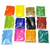 Goelx Seed Beads Diy 12 Colors Combo Glass Beads For Jewellery Making,Craftworks,Diy Projects