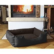 BedDog colchón para perro LUPI S hasta XL, 24 colores, cama para perro, sofá para perro, cesta para perro, XL negro/marrón
