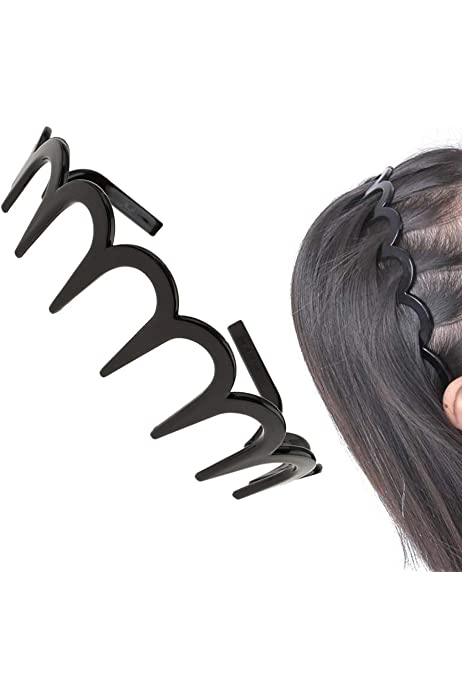xx Metal Zig Zag Hair Band Toothed Headband Alice Band Mens Sports Sharks Tooth