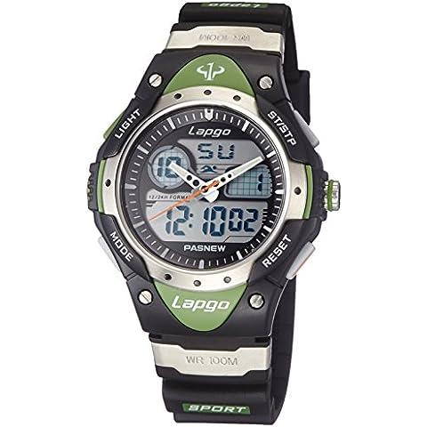 Pasnew N6 - Reloj deportivo dual unisex (resistente al agua)
